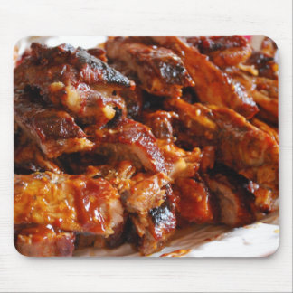 Hot Tasty Barbecue Ribs Mouse Pad