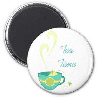 Hot Tea 2 Inch Round Magnet