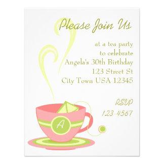 Hot Tea Custom Invitation