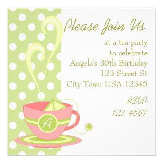 Hot Tea Custom Invite