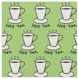 hot tea drink pattern fabric