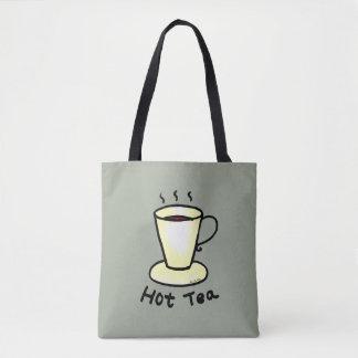hot tea drink tote bag