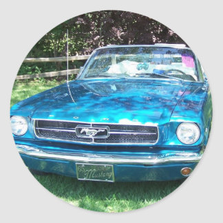 Hot Teal  1065 Mustang Sticker