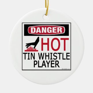 Hot Tin Whistle Player Christmas Ornament