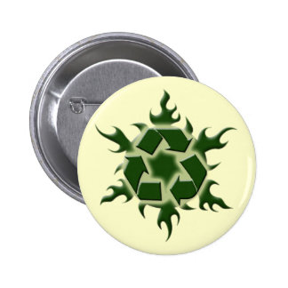 HOT TO RECYCLE PINBACK BUTTON