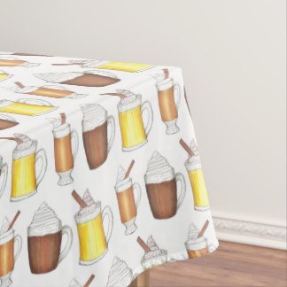 Hot Toddy Cocoa Eggnog Winter Holiday Christmas Tablecloth