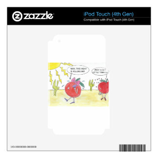 HOT TOMATO DECALS FOR iPod TOUCH 4G