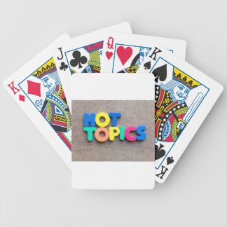 Hot topics bicycle playing cards