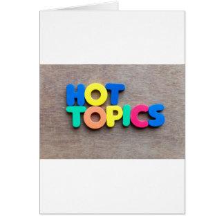 Hot topics card