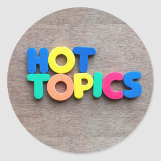Hot topics classic round sticker