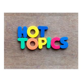 Hot topics postcard