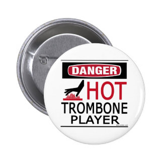 Hot Trombone Player Button