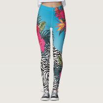 Hot Tropics Zebra Skin Leggings
