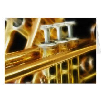 Hot Trumpet Greeting Card