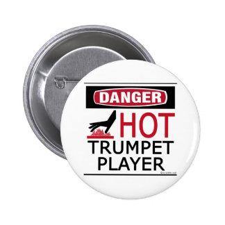 Hot Trumpet Player Pinback Buttons