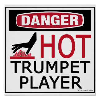 Hot Trumpet Player copy Poster