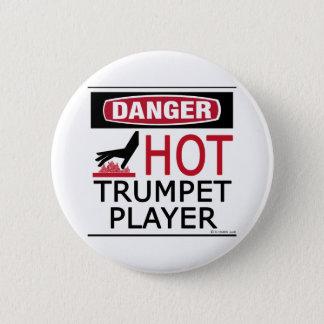 Hot Trumpet Player Pinback Button