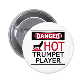 Hot Trumpet Player Pinback Button