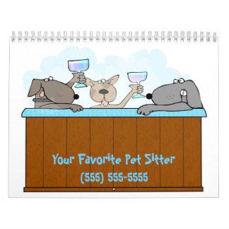 Hot Tub Dogs Calendar 2012 Animal Photographs