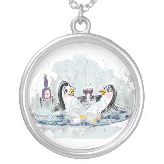 Hot Tub Penguins Custom Necklace