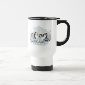 Hot Tub Penguins Travel Mug