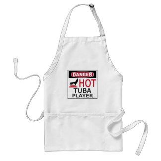 Hot Tuba Player Adult Apron