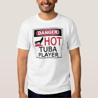Hot Tuba Player Tee Shirt