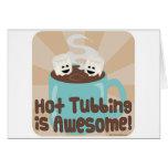 Hot Tubbing Marshmallows Greeting Card