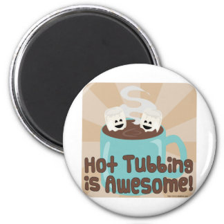 Hot Tubbing Marshmallows Magnet