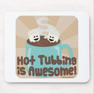 Hot Tubbing Marshmallows Mouse Pad