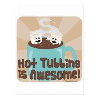 Hot Tubbing Marshmallows Postcard