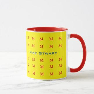 hot typography yellow personalized mug