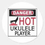 Hot Ukulele Player Stickers