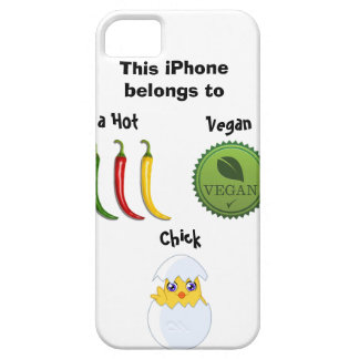 Hot Vegan Chick iPhone case