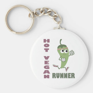 Hot Vegan Runner Keychain