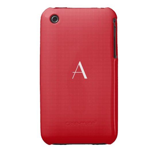 Hot Vermillion Red iPhone 3G/3GS Case w Monogram