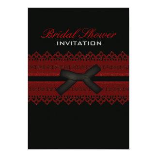 Hot vintage red garter bridal shower invitation