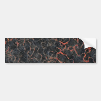 Hot Volcanic Ash Red Lines of Lava Texture Pattern Bumper Sticker