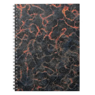 Hot Volcanic Ash Red Lines of Lava Texture Pattern Spiral Notebook
