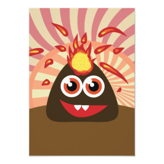 Hot Volcano Monster Card