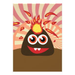 Hot Volcano Monster Personalized Invitation