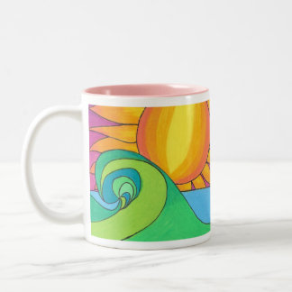 Hot Wave Two-Tone Coffee Mug