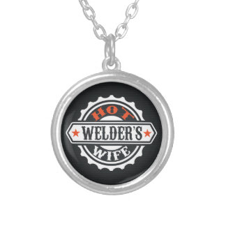 Hot Welder's Wife Silver Plated Necklace