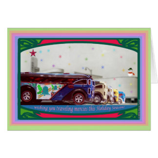 Hot Wheels Surfin'S'Cool Bus Christmas Card