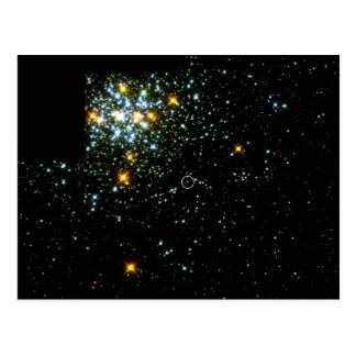 Hot White Dwarf Shines in Young Star Cluster NGC 1 Postcard