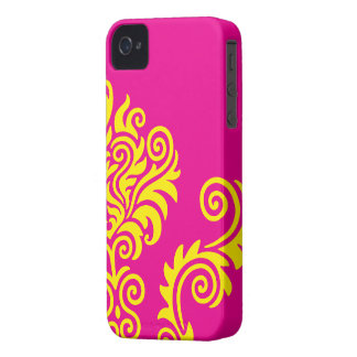 Hot wink and Yellow iPhone 4 Case