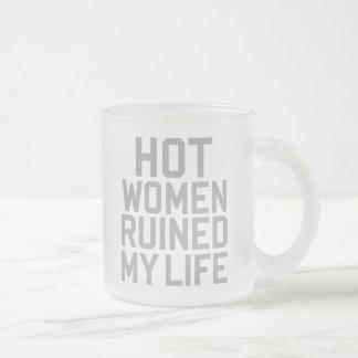 Hot Women 10 Oz Frosted Glass Coffee Mug