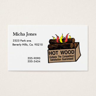 Hot Wood Guaranteed Business Card