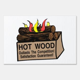 Hot Wood Guaranteed Lawn Sign