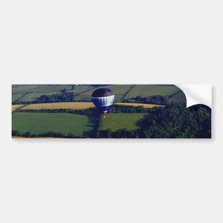 Hotair Ballon And View Car Bumper Sticker